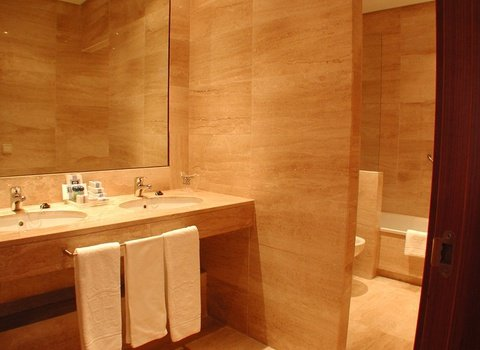 The hotel also boasts spacious and very luminous bathrooms